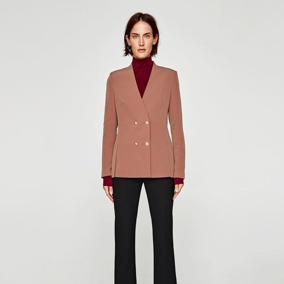 7ff91b3b Zara Jackets & Coats   Nwt Size L Double Breasted Jacket   Poshmark